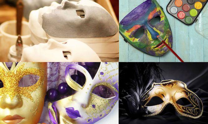 Crear m scara de carnaval con papel mach hogarmania - Mascaras para carnaval manualidades ...