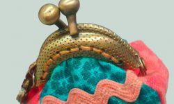 monedero patchwork con boquilla - coser boquilla