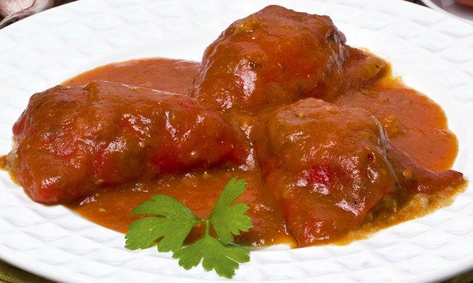 Receta de pimientos rellenos de carne karlos argui ano - Pimientos rellenos de carne picada y bechamel ...