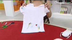 decorar camiseta y zapatillas básicas infantiles - paso 4