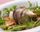 Endibias rellenas con boniato frito