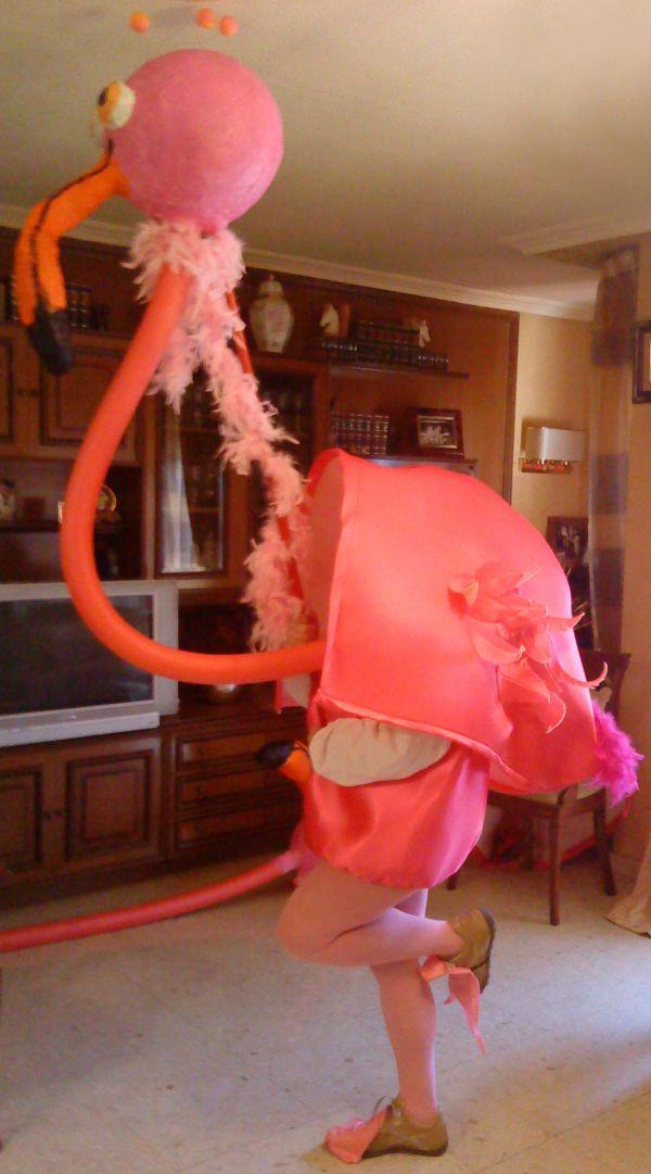 disfraz de flamenco rosa