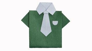 Cómo hacer una camisa de origami o papiroflexia - Paso 7