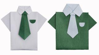 Cómo hacer una camisa de papel u origami