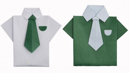 Hacer camisas origami