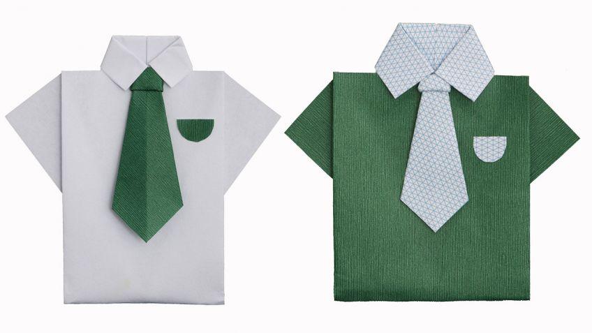 plegado de papel camisa