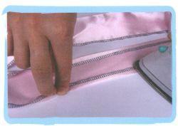 coser falda de volantes de tul - paso 4