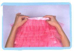 coser falda de volantes de tul - paso 6