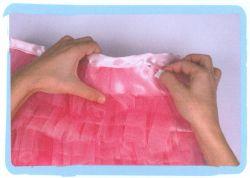 coser falda de volantes de tul - paso 7