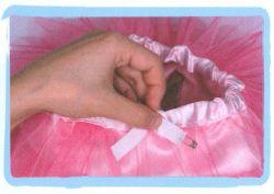 coser falda de volantes de tul - paso 8