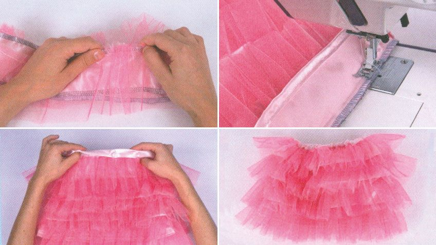 coser falda de volantes de tul hogarmania