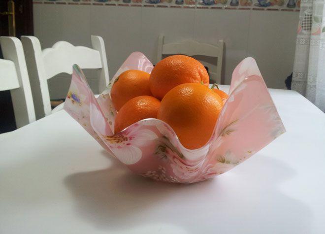 hacer lámpara con frutero - paso 1