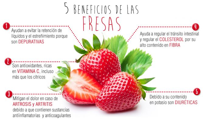 fresas beneficios