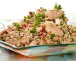 Ensalada de quinoa y bulgur con judiones
