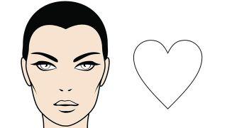¿Sabes cuál es tu forma de rostro? - Corazón