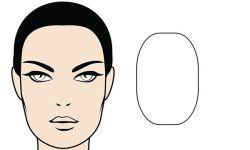 rostro forma ovalada