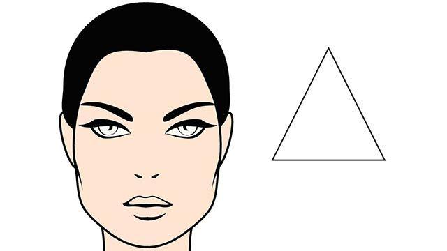 rostro triángulo
