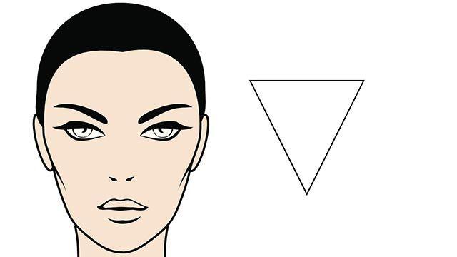 rostro triángulo invertido