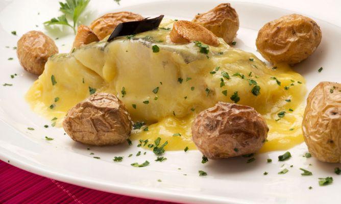 Receta de bacalao al pil pil con patatas asadas karlos for Cocina bacalao con patatas