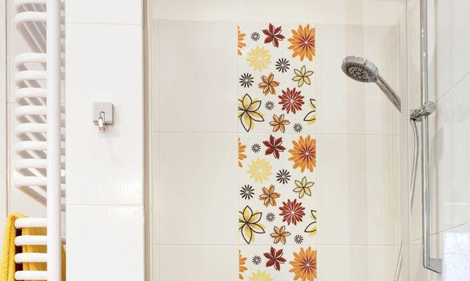 Adhesivos decorativos para azulejos bricoman a - Cenefas adhesivas banos ...