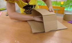 centro floral infantil de cartón y goma eva - paso 3