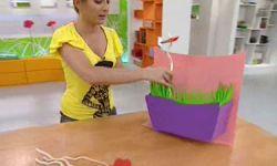 centro floral infantil de cartón y goma eva - paso 9
