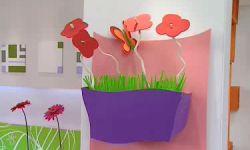 centro floral infantil de cartón y goma eva - paso 10