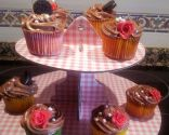 Cupcakes de vainilla con crema de Nutella