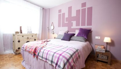 decorar dormitorio en tonos malva