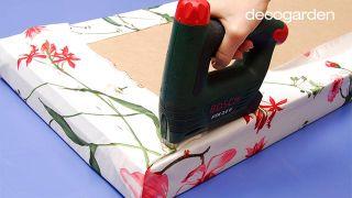 Cómo hacer un banco con tapizado primaveral - Paso 2