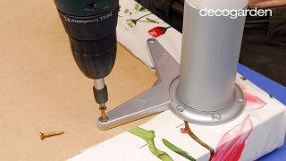 Cómo hacer un banco con tapizado primaveral - Paso 3