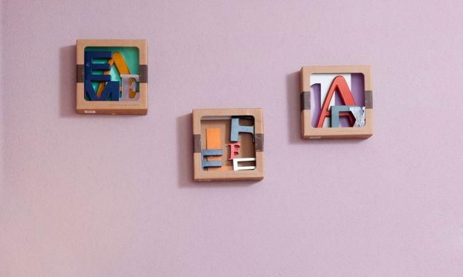 Hacer cuadros con letras decogarden - Cuadros para hacer en casa ...