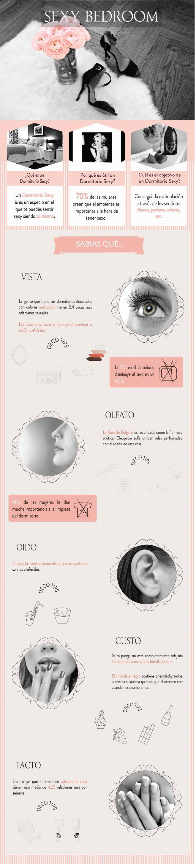 Dormitorio sexy infografía