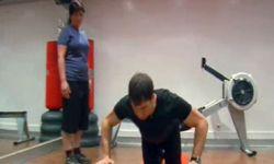 ejercicio de step brazos