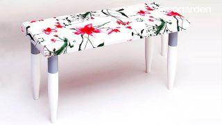 Cómo hacer un banco con tapizado primaveral - Paso 4