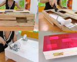 Hacer mesita baja luminosa con cajas
