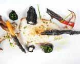 Sepia a la plancha con tempura negra de verduras