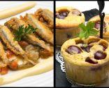 Anchoas con fritada y mahonesa de ajo y Bocados de cereza