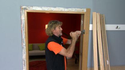 Renovar marco de puerta bricoman a for Como arreglar una puerta de madera