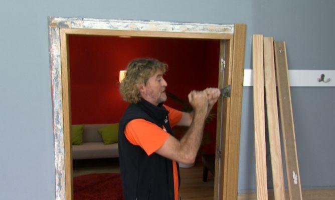 C mo soltar jambas bricoman a - Como arreglar puertas de madera rayadas ...