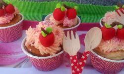 cupcakes de cerezas