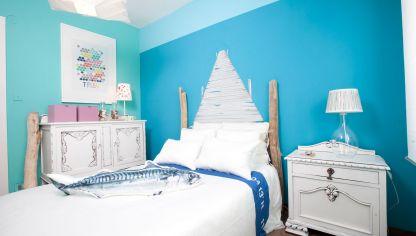 dormitorio juvenil con aire surfer