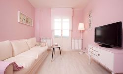 Sala de estar rosa