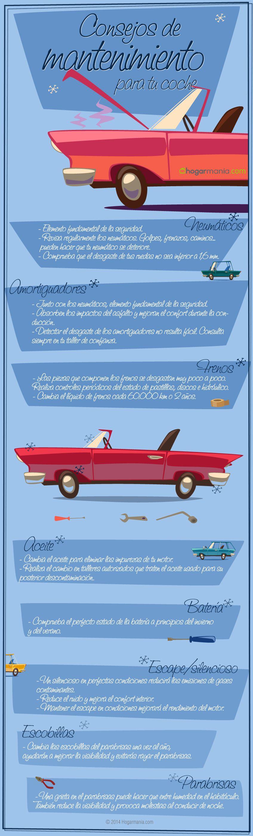 Infografía para el mantenimiento de tu coche