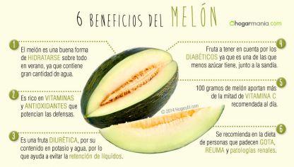 Propiedades del melon rojo