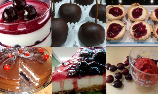 10 postres con cerezas en la Comunidad de Cocina - Hogarmania
