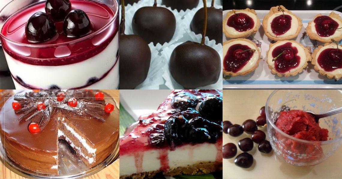10 postres con cerezas en la Comunidad de Cocina