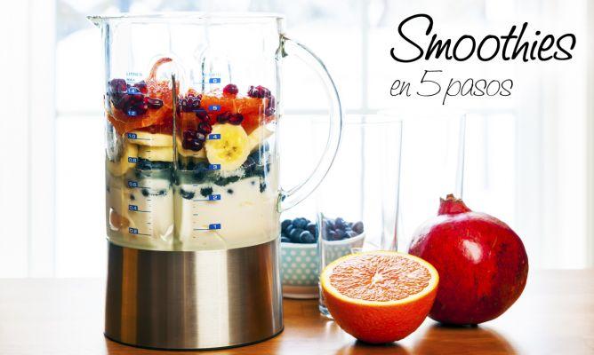 Cómo hacer smoothies o batidos de frutas en 5 pasos