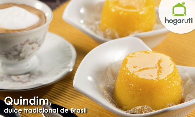 Quindim, dulce tradicional de Brasil