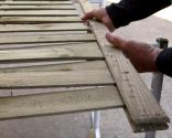 Adaptar rejilla de madera